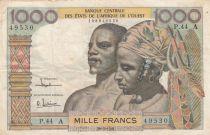 Stati dell\'Africa dell\'ovest 1000 Francs river 1961 - Serial P.44
