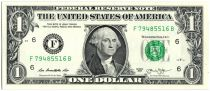 Stati Uniti d\'America 1 Dollar Washington - 2013 - F6 Atlanta