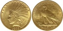 Stati Uniti d\'America 10 Dollars Indian head - Eagle 1915 - Gold