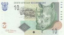 Sud Africa 10 Rand White rhinoceros - 2009