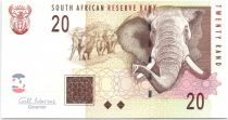 Sud Africa 20 Rand Elephants - Open pit mining 2009