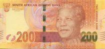 Sud Africa 200 Rand Nelson Mandela - Leopards - 2012