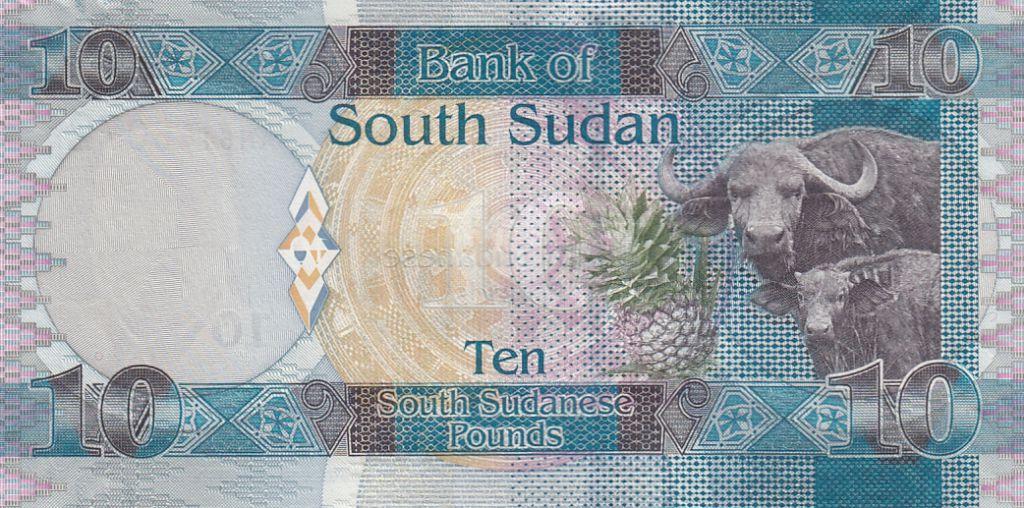 Sud Soudan 10 Dollars John Garang de Mabior, buffles - 2011