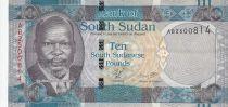 Sud Soudan 10 Dollars ND2011 - John Garang de Mabior, buffles