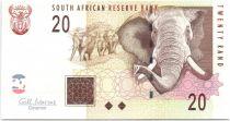 Südafrika 20 Rand Elephants - Open pit mining 2009