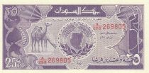Sudán 25 Piastres Camels - Central Bank - 1987