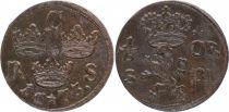 Suède 1/6 Ore Carl XI - Armoiries - 1673