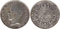Suède 1 Krona 1938G - Armoiries, Gustaf V - Argent
