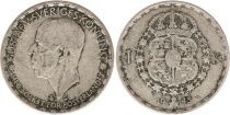 Suède 1 Krona 1943G - Armoiries, Gustaf V - Argent