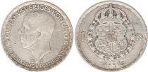 Suède 1 Krona 1945TS - Armoiries, Gustaf V - Argent