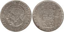 Suède 1 Krona 1956TS - Armoiries, Gustaf VI - Argent