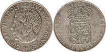 Suède 1 Krona 1965U - Armoiries, Gustaf VI - Argent