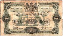 Suède 1 Krona Armoiries - 1919 - TB - P.32e