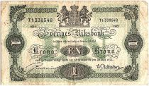 Suède 1 Krona Armoiries - 1921 - TB - P.32h - Préfix Tt