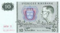 Suède 10 Kronor 1979 - Carl XVI Gustaf