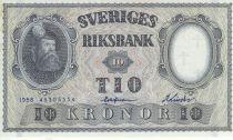 Suède 10 Kronor Roi Gustaf Vasa - 1958