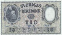 Suède 10 Kronor Roi Gustaf Vasa - 1959