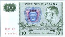 Suède 10 Kronor Roi Gustaf VI - 1984
