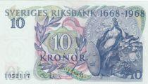 Suède 10 Kronor Svea - Ancienne Banque - 1968
