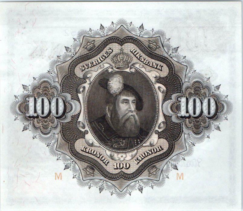 Suède 100 Kronor Svea - Gustav Vasa