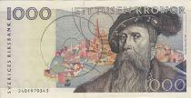 Suède 1000 Kronor, Gustav Vasa - Paysans - 1992