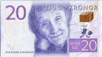 Suède 20 Kronor Astrid Lindgren - Ecrivain 2015
