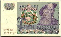 Suède 5 Kronor - Gustav Vasa - 1978 - AV - SPL - P.51
