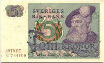 Suède 5 Kronor - Gustav Vasa - 1978 - BT - SUP+ - P.51