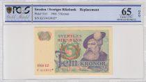 Suède 5 Kronor Roi Gustaf Vasa - 1966 * - PCGS 65 OPQ
