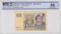 Suède 5 Kronor Roi Gustaf Vasa - 1966 * - PCGS 66 OPQ