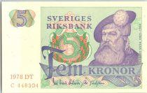 Suède 5 Kronor Roi Gustaf Vasa - 1978