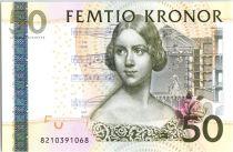 Suède 50 Kronor Jenny Lind - Violon - 2008