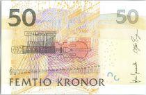 Suède 50 Kronor Jenny Lind - Violon - 2011