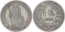 Suisse 1 Franc Helvetia - 1903 B Berne