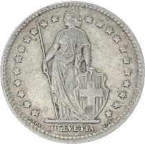 Suisse 1 Franc Helvetia - 1910 B Berne