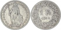 Suisse 1 Franc Helvetia - 1914 B Berne