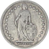 Suisse 1 Franc Helvetia - 1920 B Berne