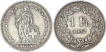 Suisse 1 Franc Helvetia - 1937 B Berne