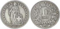 Suisse 1 Franc Helvetia - 1940 B Berne