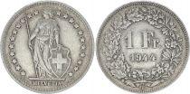 Suisse 1 Franc Helvetia - 1944 B Berne