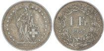 Suisse 1 Franc Helvetia - 1957 B Berne