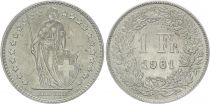 Suisse 1 Franc Helvetia - 1961 B Berne