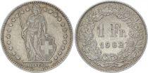 Suisse 1 Franc Helvetia - 1962 B Berne