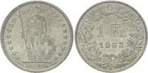 Suisse 1 Franc Helvetia - 1963 B Berne