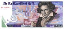 Suisse 1 Varinota, Echantillon De la Rue Giori - Beethoven - Numéro de série en rouge