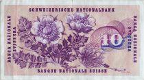 Suisse 10 Francs  Gottfried Keller - Edelweiss - 07/03/1973