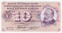 Suisse 10 Francs 1961 - Gottfried Keller, Oeillets