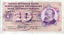 Suisse 10 Francs 1969 - Gottfried Keller, Oeillets