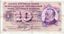 Suisse 10 Francs 1970 - Gottfried Keller, Oeillets
