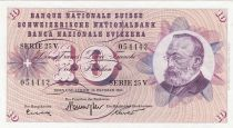 Suisse 10 Francs 1973 - Gottfried Keller, Oeillets